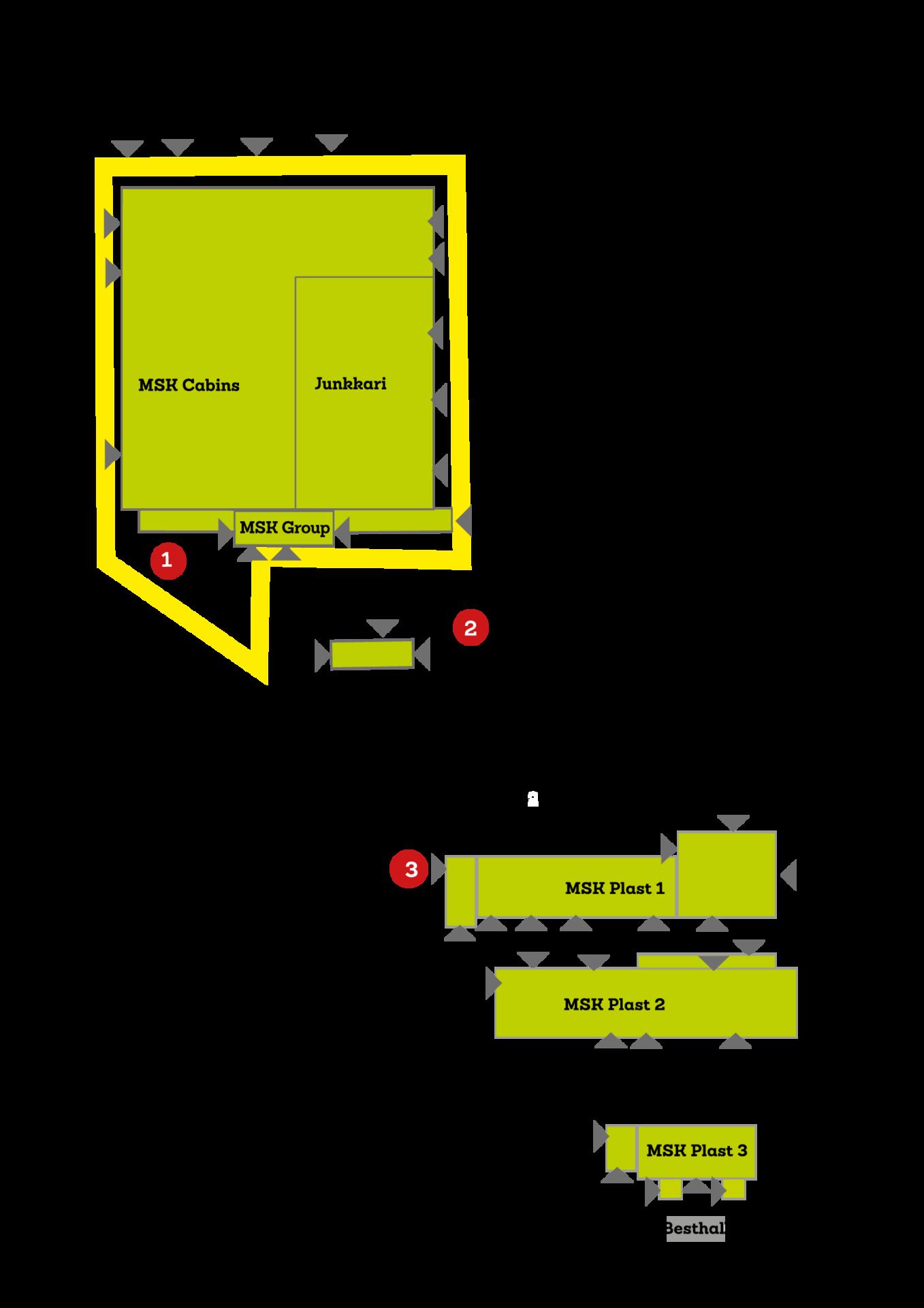 Palohälytysten kokoontumispaikat
